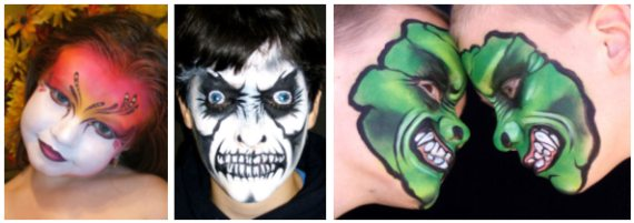Click to see Mark Reid's face painting gallery