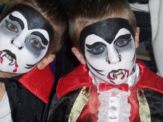 dracula face painting example