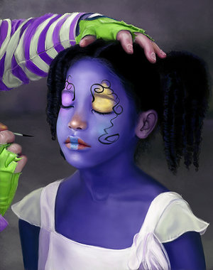 face painting by_cypherx
