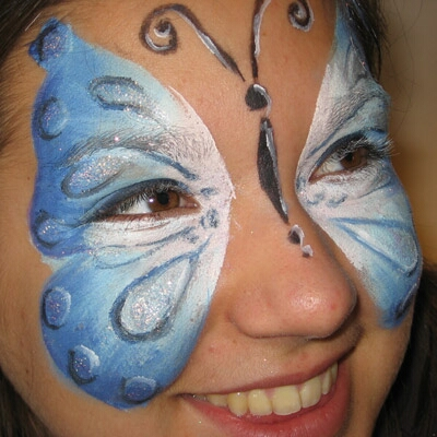Butterfly Face Painting for Teens