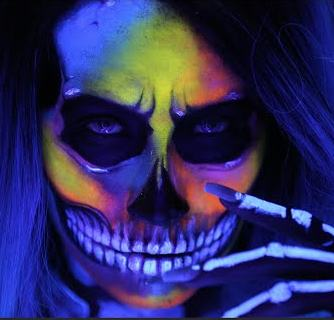 Black Light Face Painting