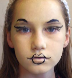 bratz face painting step 2