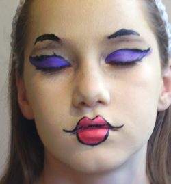 bratz face painting step 3