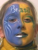 brazil face painting