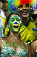 Brazilian soccer goal fan