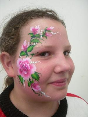 Floral face painting