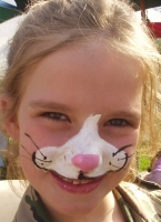 bunny face painting design