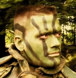 Camoflage face painting design military
