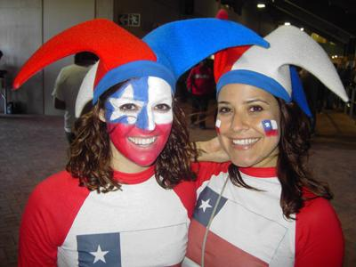 Chile Fans in Port Elizabeth