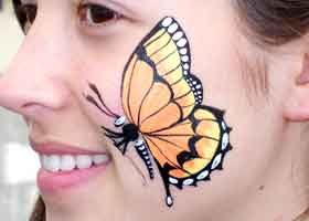 Colorific Kids - Cheek art butterfly!