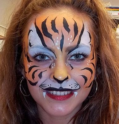 Easy tiger face paint - photo#27