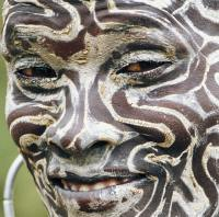 ethnic face pattern