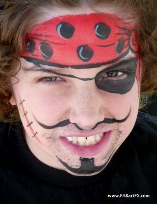 Pirate face painting by Los Angeles