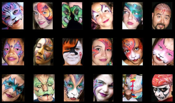 Face War Paint Designs http://www.face-painting-fun.com/face-painting-ideas.html