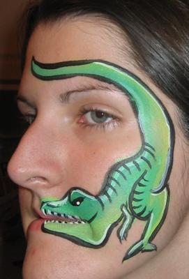 Simple Dinosaur Face Painting Ideas