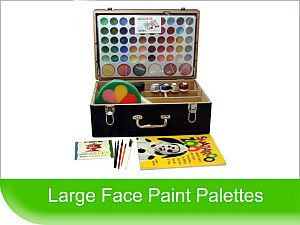 Click to View - Large Pro sized Face Paint Palettes