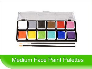 Click to View - Medium sized Face Paint Palettes