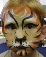 face painted tiger design