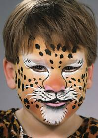 Tiger face painting design