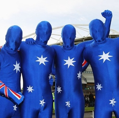 Australian flag body sock