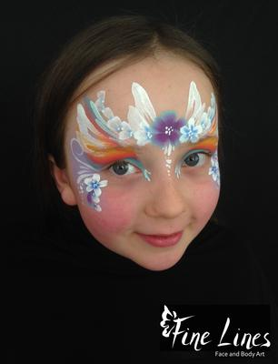 Flower Fairy Face Painting (Kinderschminken)by Fine Lines Face and Body Art, Leipzig
