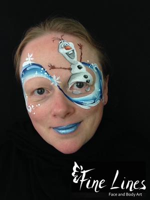 Olaf Face Painting (Kinderschminken) by Fine Lines Face and Body Art, Leipzig