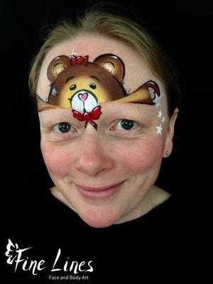 Teddy Face Painting (Kinderschminken) by Fine Lines Face and Body Art, Leipzig