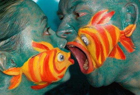 fish eat me face paint