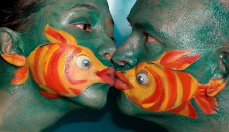 fish face painting example