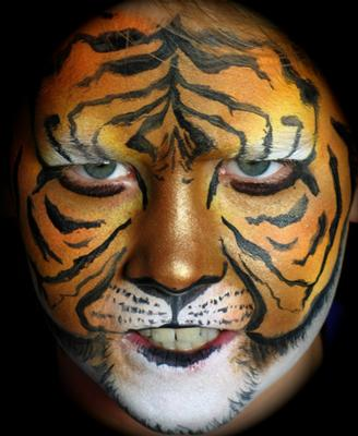 Tiger face painting (Click on smaller Pics to Enlarge)