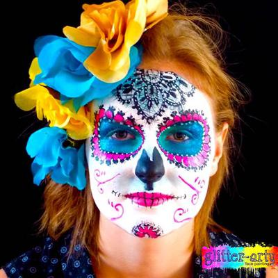 Sophisticated Sugar Skull with lace effect