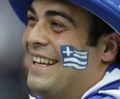 Greek soccer fan