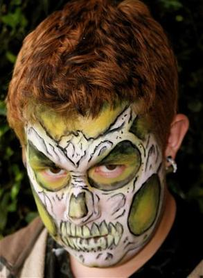 High Jinks Skull Face Painting Art