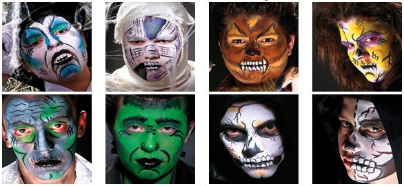 Horror face painting designs video
