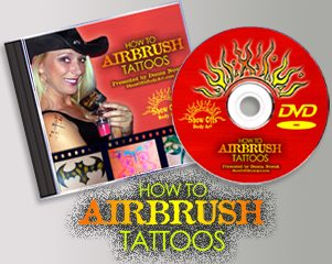 Show Offs Body Art How to Airbrush Tattoos -- DVD  DVD