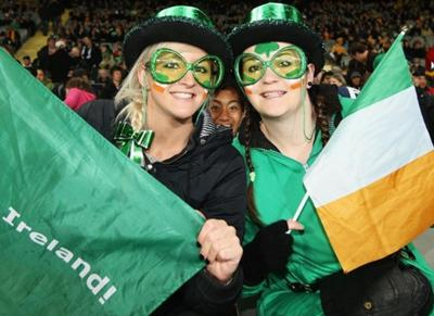 Ireland fans face painted