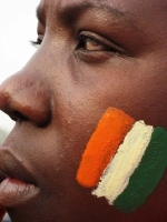 Ivory Coast soccer fan