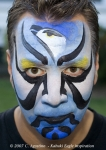 Kubuki eagle face painting idea