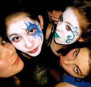 Kids face painting teens