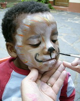 Cute cat special needs face painting
