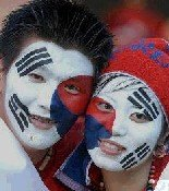 Korea face painting