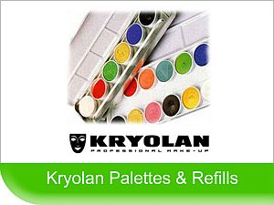 Click to buy, Kryolan Face Paint Palettes & Refills
