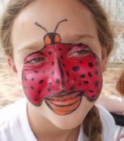 lady bug face painting design