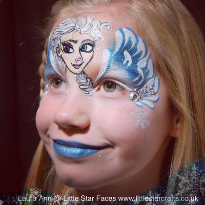 Frozen face paint (Click on smaller images to Enlarge)