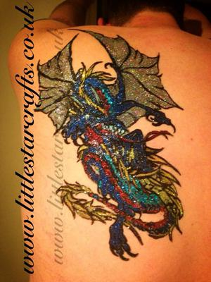 Dragon glitter tattoo (Click on smaller images to Enlarge)