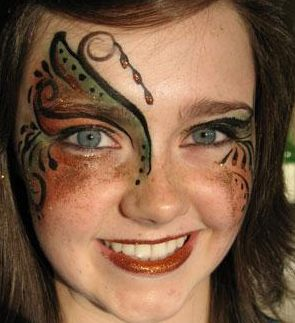 Glamour face painting