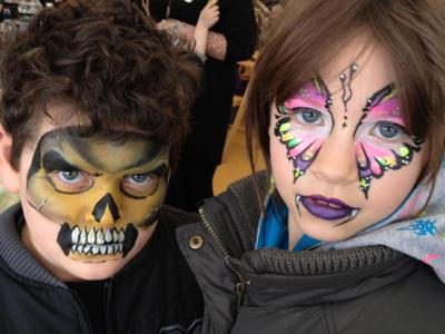 Face Painting (Click on the smaller images below to Enlarge)