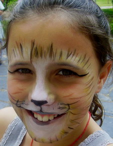 Maine coon cat face painting idea