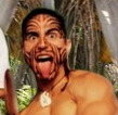 Maori warrior face paint