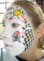 Arty Teen Face Painting